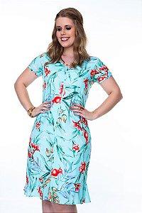 Vestido Floral Hadaza 59765 Plus Size - Moda Evangélica