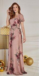 Vestido Olivia Longo 14409 Fascinius - Moda Evangélica