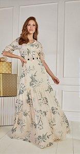 Vestido Francis Nude 14483 Fasciniu's - Moda Evangélica