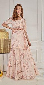 Vestido Francis Rosa 14483 Fasciniu's - Moda Evangélica