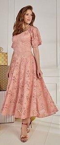 Vestido Fascíniu's Alana Rosê 15021Moda Evangélica