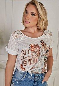 T-shirt Fascíniu's Neila 15411 Moda Evangélica