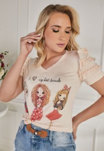 T-shirt Fascíniu's Leni 15284 Moda Evangélica