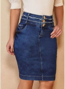 Saia 3 Cós Jeans Titanium 5106