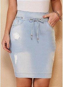 Saia Reta Jeans Titanium 5137