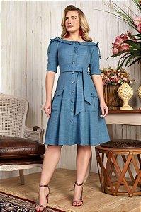 Vestido Karina 15638 Azul claro Fascíniu's