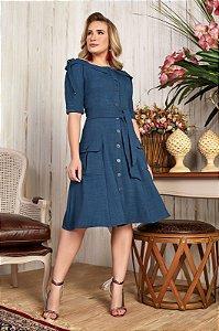 Vestido Karina 15638 Azul escuro Fascíniu's