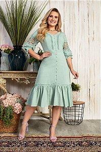 Vestido Leila Verde 15710 Fascíniu's