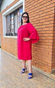 Vestido Pink com Manga Flare 160 - Valentina Sirrah