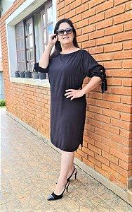 Vestido em Viscose Preto 157 - Valentina Sirrah