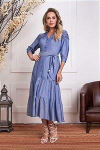 Vestido em Viscose Jeans Azul Lolita 15631- Fascíniu's