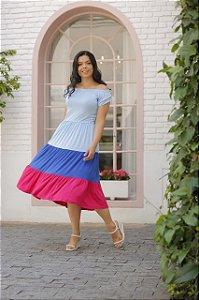 Vestido em Malha com Marias 9047 - Olga Lima