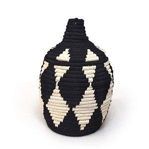 Cesta Marroquina Hana | Arte Tribo Berber | 26x14,5 cm
