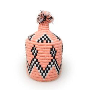 Cesta Flamingo | Arte Tribo Berbere | 30x17 cm