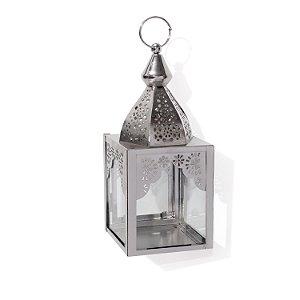 Luminária Noor Prateada | 20x7,5x7,5cm