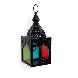 Luminária Noor Preta | 20x7,5x7,5cm