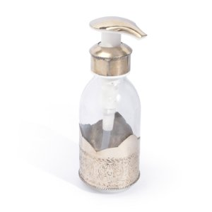 Dispenser Munir Prateado Ornamental | 14x5,5 cm