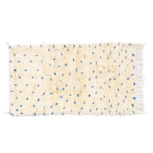 Tapete Beni Ourain Blue Dots |1,15x0,60m