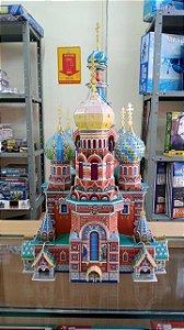 CubicFun - Catedral da Ressurreição de Cristo sobre o Sangue Derramado (Montado) - Puzzle 3D (Sucata)