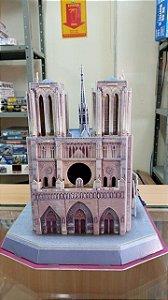 CubicFun - Catedral de Notre Dame de Paris (Montada) - Puzzle 3D (Sucata)