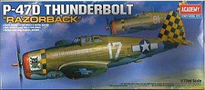 """Academy - P-47D Thunderbolt """"Razorback"""" - 1/72"""