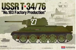 """Academy - USSR T-34/76 """"Nº 183 Factory Production"""" - 1/35"""