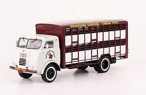 Ixo - Caminhão FNM D-1000 para Transporte de Carga Viva - Boiadeiro Express - 1/43