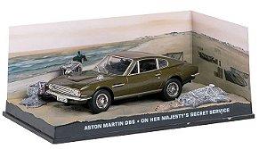 Coleção James Bond 007 Eaglemoss - Aston Martin DBS - 007 À Serviço Secreto de sua Majestade - 1/43
