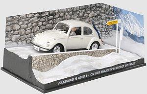 Coleção James Bond 007 Eaglemoss - Volkswagen Beetle - 007 À Serviço Secreto de sua Majestade - 1/43