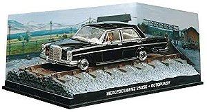 """Coleção James Bond 007 Eaglemoss - Mercedes-Benz 250SE """"Railway Track"""" - 007 contra Octopussy - 1/43"""