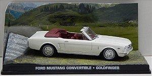 Coleção James Bond 007 Eaglemoss - Ford Mustang Convertible - 007 Contra Goldfinger - 1/43