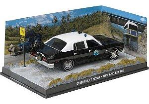 """Coleção James Bond 007 Eaglemoss - Chevrolet Nova """"Polícia de San Monique"""" - 007: Viva e Deixe Morrer - 1/43"""