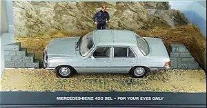 Coleção James Bond 007 Eaglemoss - Mercedes-Benz 450 SEL  - 007: Somente Para Seus Olhos - 1/43