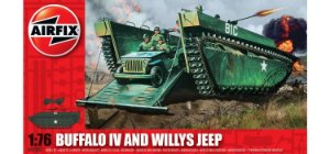 AirFix - Buffalo IV And Willys Jeep - 1/76
