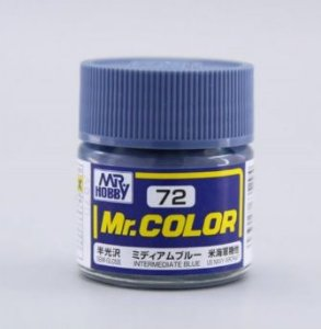 Gunze - Mr.Color 072 - Intermediate Blue (Semi-Gloss)