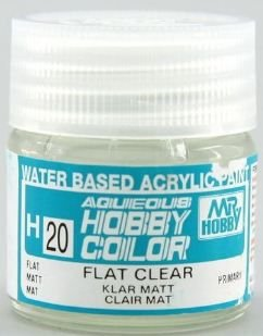 Gunze - Aqueous Hobby Colors H020 - Flat Clear