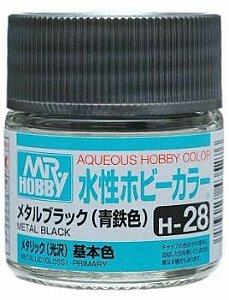 Gunze - Aqueous Hobby Colors H028 - Metal Black (Metallic)