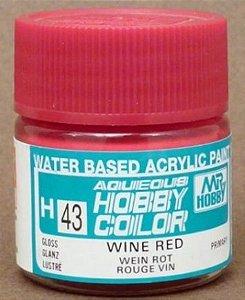 Gunze - Aqueous Hobby Colors H043 - Wine Red (Gloss)