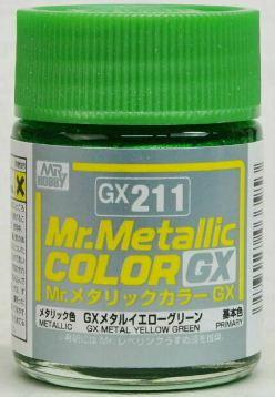 Gunze - Mr.Metallic Color GX211 - Yellow Green (Metallic)