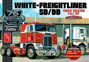 Cavalo mecânico White Freightliner 2-in-1 SC/DD Cabover (75 Anos) - 1/25