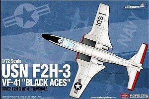 "Academy - USN F2H-3 VF-41 ""Black Aces"" - 1/72"