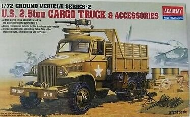 Academy - U.S. 2.5ton Cargo Truck & Accessories - 1/72