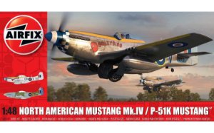 AIRFIX - NORTH AMERICAN MUSTANG MK.IV/P-51K MUSTANG - 1/48