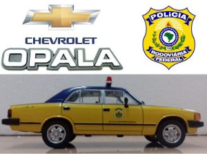 Coleção Veículos de Serviço - Chevrolet Opala (Polícia Rodoviária Federal) - 1/43