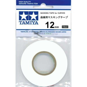 TAMIYA - MASKING TAPE FOR CURVES 12MM - MÁSCARA PARA CURVAS