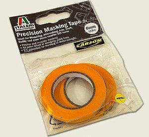 Italeri - Fita semiadesiva para máscara de pintura (Masking Tape) - 6 mm X 18 metros (2 rolos)