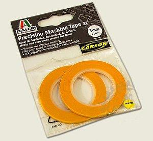 ITALERI - Fita semiadesiva para máscara de pintura (Masking Tape) - 3 mm X 18 mm (2 rolos)
