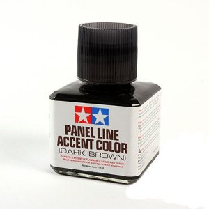 Tamiya - WASH Panel Line Accent Color Marrom escuro 40 ml