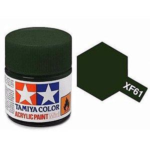 Tinta Tamiya para plastimodelismo - Acrílica mini XF-61 Verde escuro - 10 ml