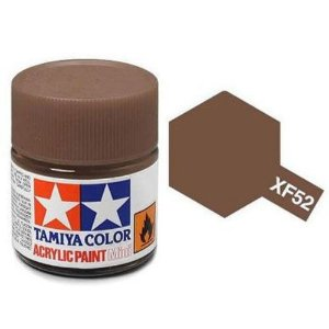 Tinta Tamiya para plastimodelismo - Acrílica mini XF-52 Terra fosco - 10 ml - NOVIDADE!